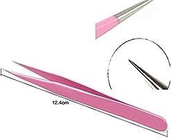 Amazon.com: Onwon - 2 pinzas rosas de acero inoxidable para ...