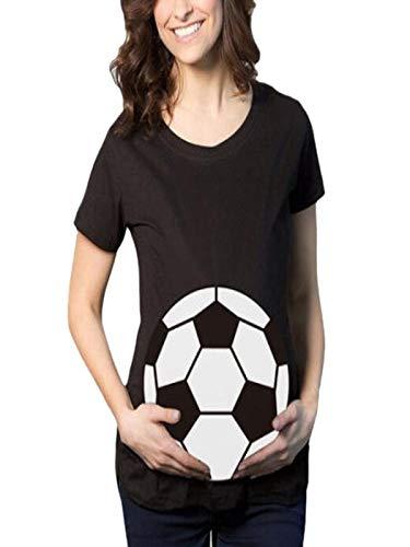 SamMoSon 2019 Blusas Mujer Tallas Grandes Vestido Camison Vestidos Lactancia Embarazada Camison,Camiseta De Fútbol