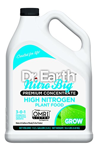Dr. Earth Nitro Big High Nitrogen Plant Food 1 Gallon - Liquid Nitrogen Fertilizer
