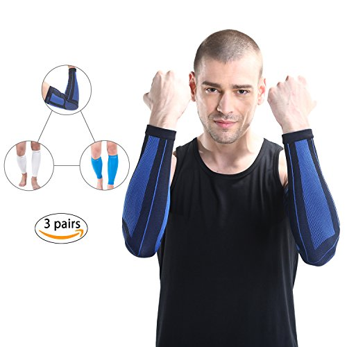 Gold Glove 2 Baseball Display (Makino 3 Pairs Golfer's Elbow, Tennis Elbow, Arthritis, Tendonitis Pain, Basketball, Football)