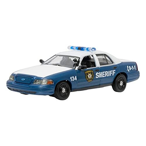 Greenlight Collectibles- 86504 - Dodge Charger Police - The Walking Dead - 2006 - Noir - Echelle 1/43