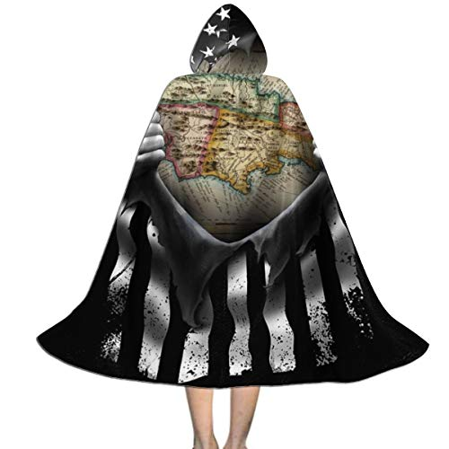 Halloween Costumes Kingston (QBahoe Kids Cape Cloak with Hood Jamaica Map Pull Apart Unisex Cloak Cape for Halloween Christmas Party Cosplay)