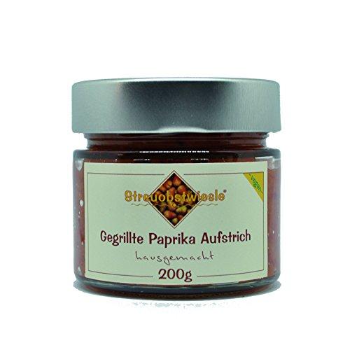 Streuobstwiesle Gegrillte Paprika Aufstrich - 200 g Rein pflanzlicher, veganer Brotaufstrich mit frischen Zutaten zubereitet.