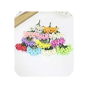 Maja Shop 144Pcs/Pack Mini Artificial Calla Lily Flower Artificial Flower Bouquet Artificial Flower Wedding Home Party Decor Art Floral 96