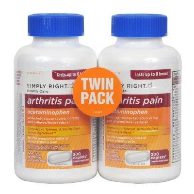 Member's Mark - Arthritis Pain Reliever, Extended Release, Acetaminophen 650 mg, 400 Caplets