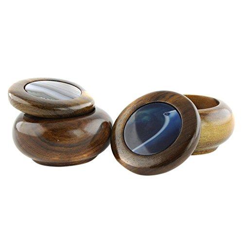 NOVICA Stone Wood Decorative Box, Multicolor, Smoke and Water' (Pair)