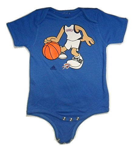 Adidas Oklahoma City OKC Thunder Baby Boy Onesie Heads Up Basketball Player Romper (18 Month)