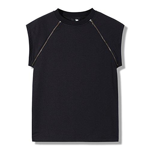 Homme Airavata Manches Decore Cote T Hop Noir4 shirt Sur Courtes Hipster Hip Hoodie Yvfgb76y