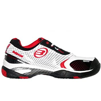 Bullpadel - Zapatillas bullpadel biter de pádel, talla 39, color blanco / negro / rojo: Amazon.es: Deportes y aire libre