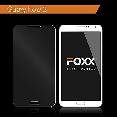 Samsung Note 3 Tempered Glass Screen Protector Excellent Fitting Premium 9H Tempered Glass Screen Protector Featuring Anti-scratch, Anti-fingerprint, Bubble Free, Explosion-proof and Pressure-resistant Features By Foxx Electronics