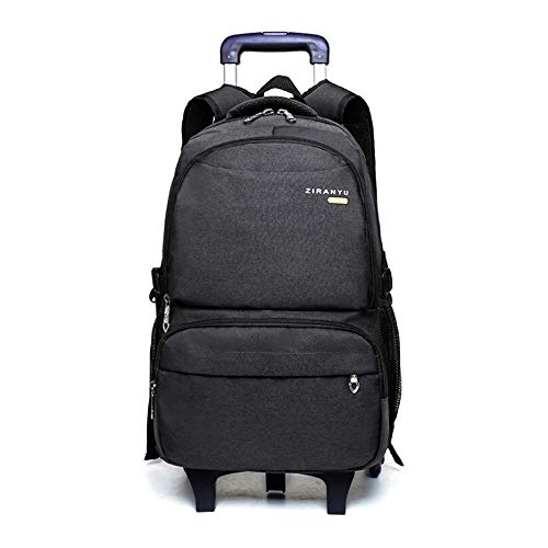 - Rolling Backpack,Waterproof Trolley School Bag with Lunch Bag Pencil Case,School Backpack with Wheels for Students Climbing Stairs