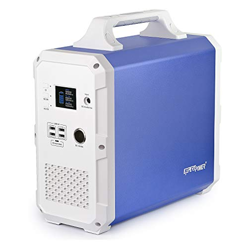 ExpertPower Alpha 1500 Lithium Portable Power Station 1500Wh Solar Generator with 1000W AC Inverter 2000W Peak , USB, Type-C, 12V DC Output for Emergency, Camping and Power Supply