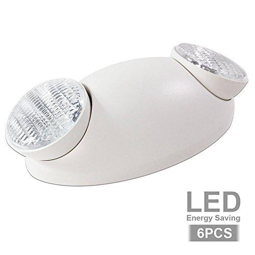 eTopLighting Emergency Exit Light Standard LED Bug Eye Head LED Spot Light, EL5SB-6