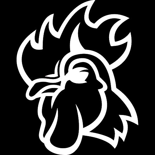 - ANGDEST Rooster (White) (Set of 2) Premium Waterproof Vinyl Decal Stickers for Laptop Phone Accessory Helmet Car Window Bumper Mug Tuber Cup Door Wall Decoration