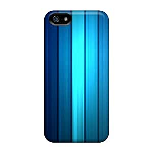 OSqKEqo7501FDJoy Anti-scratch Case Cover Mwaerke Protective Blue Striped Case For Iphone 5/5s