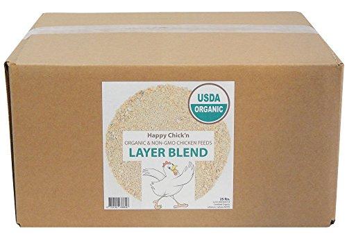 Layer Chicken Feed, Organic & Non-GMO, 25 lbs - Happy Chick'n