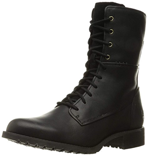 (Timberland Women's Banfield Mid Lace Boot, Jet Black Forty, 6 W US )