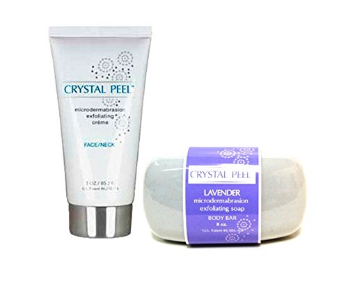 Crystal Peel MicroDermabrasion LAVENDER Soap (8 oz) & Microdermabrasion EXFOLIATOR Creme (3 oz) - DUO