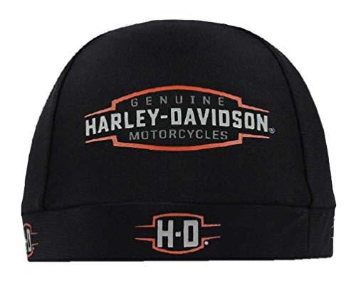 Harley-Davidson Men's Velocity H-D Logo Stretchy Skull Cap, Black SK31430