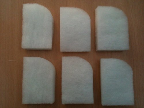 Finest-Filters Pack of 6 x compatible Fluval 304/305/306 and 404/405/406 Water Polishing Filter Pads