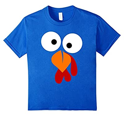 Turkey Face T Shirt - Funny Fun Thanksgiving Day Tee