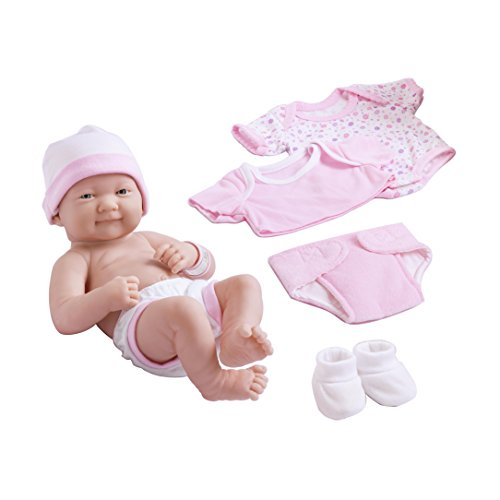 Berenguer Scented Doll (Berenguer Dolls 18543_La Newborn 8 Piece Layette gift set, 14-inch , Pink)