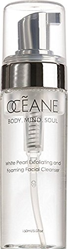 OCEANE Beauty White Pearl Exfoliating And Foaming Cleanser, Improve Skin Firmness, Texture, and Elasticity, Luxurious Makeup Remover and Deep Clean Pores OC6 (Best Face Wash For Flawless Skin)
