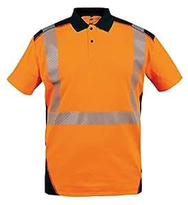 T2s POLOBORNE3OMXL - Camisa de polo borne3om2l polo, naranja/azul marino, naranja,