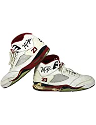 91d1b28c29e6 Bulls Michael Jordan Signed 1990 Game Used Nike Air Jordan V Shoes BAS