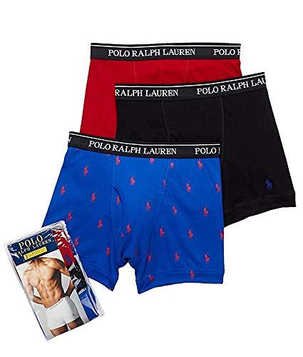 Polo Ralph Lauren Classic Cotton Boxer Brief 3-Pack, XL, ()