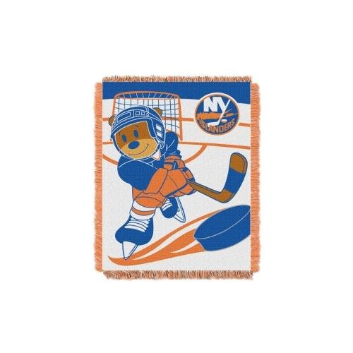 The Northwest Company Officially Licensed NHL New York Islanders Score Woven Jacquard Baby Throw Blanket, 36
