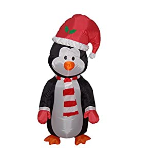 4 Foot Christmas Inflatable Cute Standing Penguin - Yard Blow Up Decoration - 41oC3zUgB6L - 4 Foot Christmas Inflatable Cute Standing Penguin – Yard Blow Up Decoration