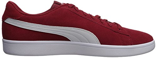 Puma Mannen Smash V2 Sneaker Red Dahlia-puma Wit