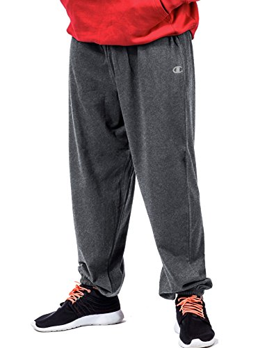 Champion Big Tall Men`s Fleece Pant, CH106, 2XLT, Granite He
