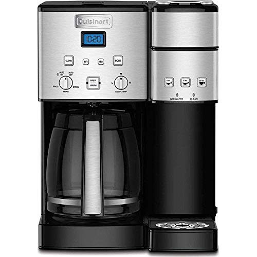 (Cuisinart SS-15 12-Cup Coffee Maker and Single-Serve Brewer, Stainless Steel (Renewed))