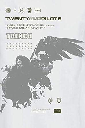 Twenty One Pilots Wings damski sweter z kapturem, biały, Band-Merch, Bands: Odzież