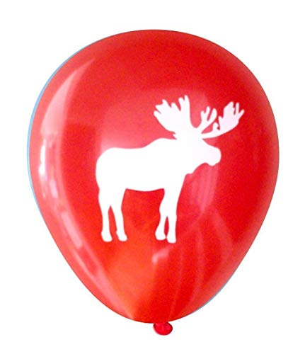 Moose Balloons (16 pcs) by Nerdy Words (Red)