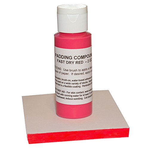 Notepad Padding Compound - 2oz - Custom Colors (Red)