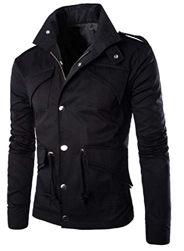 Plus Black Coat Chin Openwork Guard with Mens Twill Jacket Size XINHEO qnUEHf1