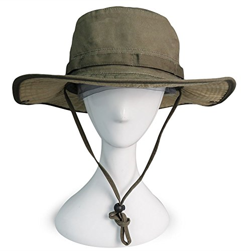 Phaiy 100% Cotton Booney Fishing Bucket Men Safari Summer String Hat Cap aae6069e7387