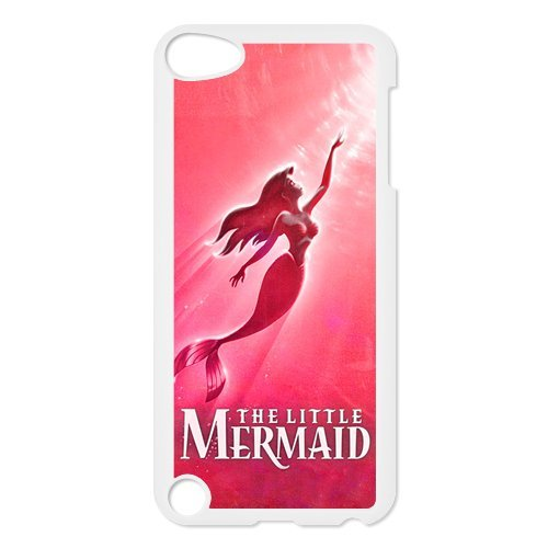 Black/White Sides Classic Style Custom Unique The Little Mermaid Design Skin Cover Case for iPod Touch 5th Durable Plastic iPod 5 Case