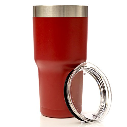 THERMONATOR Double Wall Insulated Stainless Steel Travel Tumbler- Red