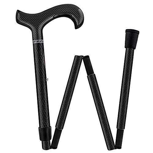 Mesh Carbon Black Folding Adjustable Walking Cane
