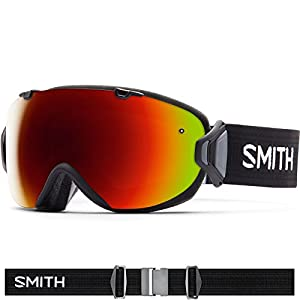 Smith Optics I/OS Women's Interchangable Series Ski Snowmobile Goggles Eyewear - Black/Red Sol X Mirror / Medium