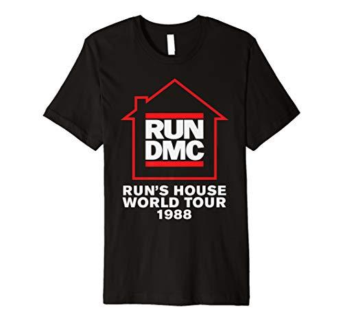 Run DMC Official Run's House World Tour 1988 Premium T-Shirt