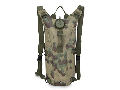 OVIIVO Bike 3L Hydration Bladder Backpack Adjustable Tactical Water Backpack with Water Bladder for Biking Cycling Travel Hiking (Ruin Camouflage) by OVIIVO