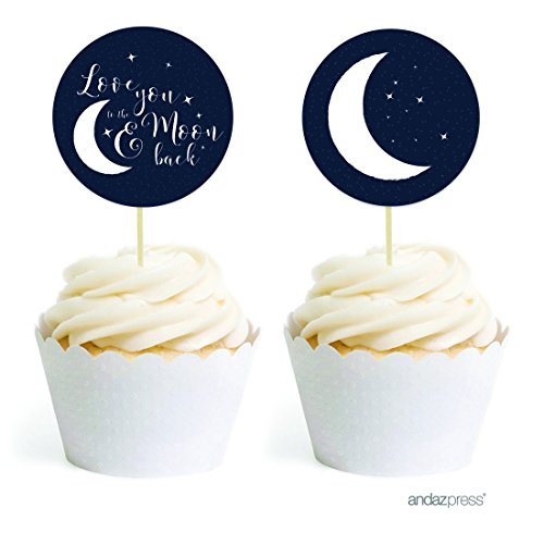 Andaz-Press-Love-You-to-the-Moon-and-Back-Wedding-Collection-Cupcake-Topper-DIY-Party-Favors-Kit-20-Pack