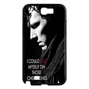 C-EUR Diy Phone Case Sherlock Pattern Hard Case For Samsung Galaxy Note 2 N7100