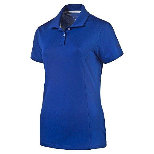 PUMA Golf Women's Pounce Cresting Polo Shirt, Surf The Web, Small Cat Womens Golf Shirt