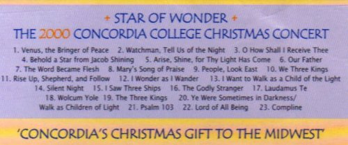 the concordia choir star of wonder the 2000 concordia college christmas concert amazoncom music